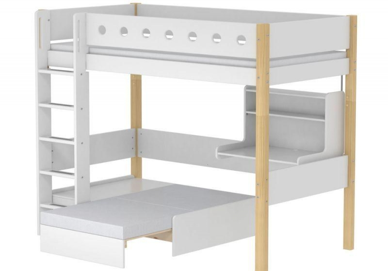 Hoge bed Casa White
