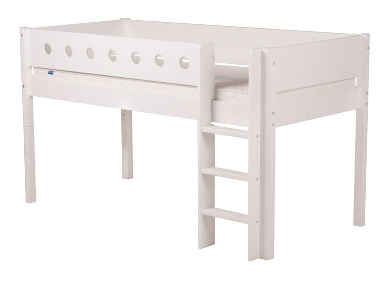 Half-hoog bed White